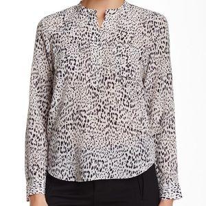 Rebecca Taylor Leopard Print Silk Blouse Top 4